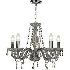 8695 5gy marie therese 5 light chandelier smoked grey