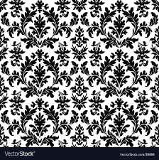 black and white floral wallpaper pattern. Plain And Floral Wallpaper Seamless Vector Image With Black And White Wallpaper Pattern W