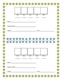 Positive Reinforcement Sticker Chart