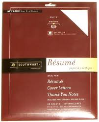 Weight Of Resume Paper