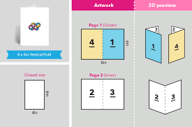 Folded Birthday Card Affordable Folded Greeting Card Printing In Singapore