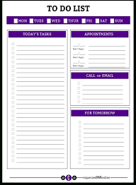 Daily To Do List Examples Printable To Do Lists For Work Examples And Forms Within