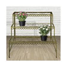 3 tier metal plant stand etagere with
