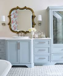 traditional bathroom decorating ideas. Traditional Bathroom Decorating Ideas And Antique Cabinets With Storage Also Wall Mirror A