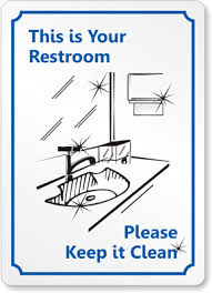 Office Bathroom Etiquette  BrightpulseusPrintable Keep Bathroom Clean Signs