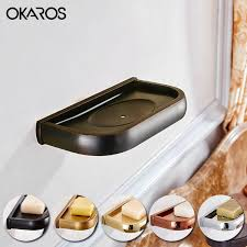 2019 wall mounted soap dish holder solid brass soap dispenser copper chrome gold rose golden antique black bathroom accessories from hopestar168