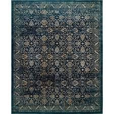 safavieh evoke navy gold 8 ft x 10 ft area rug