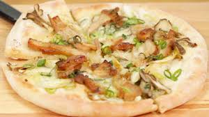 It's made with flour, eggs, tempura scraps ( tenkasu ), cabbage, and pork belly slices and topped with a variety of condiments like okonomiyaki sauce. Teriyaki Chicken Pizza Recipe Japanese Style Pizza With Mozzarella And Mushrooms Cooking With Dog Youtube