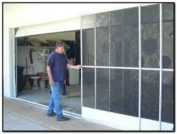 garage door with a screen sliding garage door screen panels diy garage door screen systems