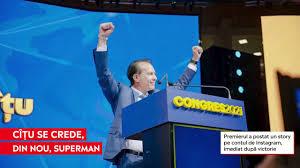 Florin Cîțu s-a transformat din nou în Superman, după triumful de la Congresul PNL - YouTube