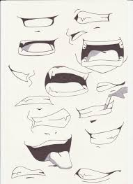 Manga Ideas Ideas Of Draw Smiling Lips 1000 Images About Manga Mouth References