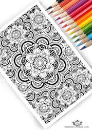 Mandala Pattern DIY Print at home Digital Download Colouring