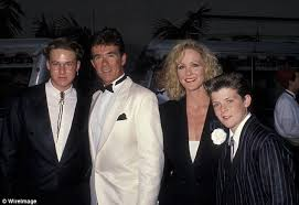 robin thicke 1990s. Exellent Thicke Alan Thicke Pictured With His Sons Brennan Thicke And Robin  Actress Joanna Kerns And 1990s