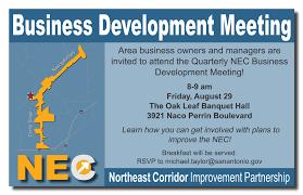 northeast corridor improvement partnership perrin beitel nec businessdevelopmentmeetingflyerforwebsite 20140818