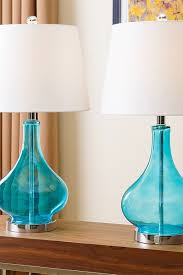 turkish table lamps best of levi navy blue glass table lamp set of 2 on hautelook