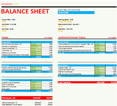 Basic Balance Sheet Template Excel Best Samples Of Balance Sheet Templates For Excel