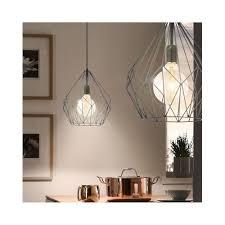 Geometric Pendant Light Eglo Carlton Black Wire Geometric Pendant Light