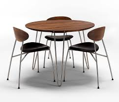 luxury danish modern round dining table dm6690 wharfside throughout round walnut dining table decorate