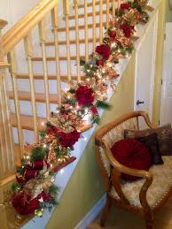 Stair Christmas Garland Best 25 Staircase Decor Ideas On