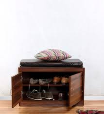 shoe rack furniture. cancan shoe rack with seating in brown finish by the furniture store