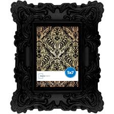 black picture frames. Mainstays 5x7 Chunky Baroque Picture Frame Satin Black Finish Home Or Office Frames R