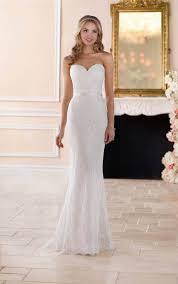wedding dresses classic lace sheath wedding gown stella york