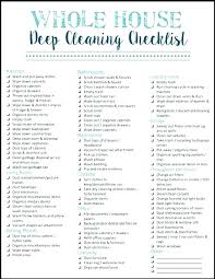 Professional House Cleaning Checklist Ideas Interior