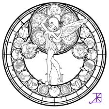 Small Picture Disney Fairies Stained Glass line art by Akili Amethyst on