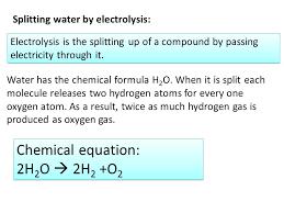 formula water chemical equation i splitting water by electrolysis formula water