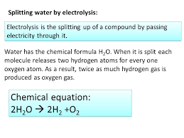 formula water chemical equation i splitting water by electrolysis formula water