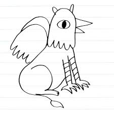 monster creature drawings easy. Griffin Drawing On Monster Creature Drawings Easy