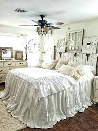 shabby chic bedding bedspreads ruffled bedspread bed cover coverlet linen simply white beddin
