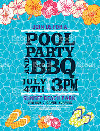 pool water background. Swimming Pool Water Background With Party Invitation Template Royalty-free