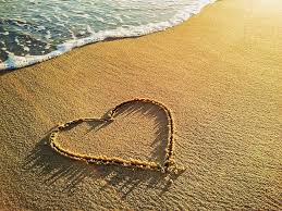 Image result for heart in sand