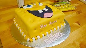 8 Fondant Cakes From Spongebob Photo Spongebob Birthday Cake