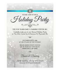 Corporate Holiday Party Invite Elegant Pearl Winter Wonderland Christmas Party Invite