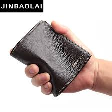 <b>JINBAOLAI Genuine Leather Mens</b> Wallet Real Cowhide Short ...