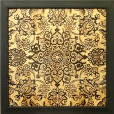 digitally printed wooden wall plaque with ancient persian rug pattern