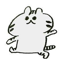 歩くトラ模様の猫のイラスト ゆるくてかわいい無料イラスト素材屋