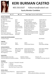 Casting Resume Sample Best Of Gallery Of Audition Resume Template