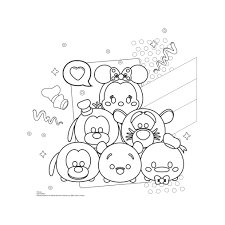 Disney Tsum Tsum Coloring Pages Printable Free Coloring Books