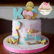 Ice Cream Themed Cake For Kanaya Chocolique