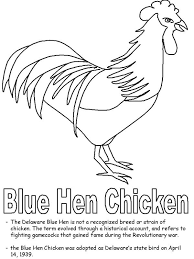Small Picture Blue Hen Chicken Coloring Page Blue Hen Chicken Coloring Page