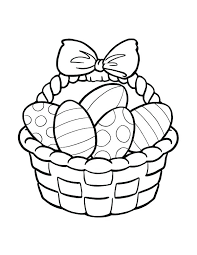 Coloring Pages Of Eggs Bunny Basket Coloring Pages Egg Coloring Page