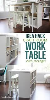 work tables for home office. This Simple Ikea Hack Will Make All Of Your Craft Room/home Office Dreams Come\u2026 Work Tables For Home