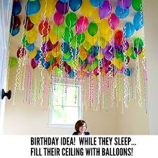 Fill Party Balloons while they sleep so they can wake up to a Birthday  Celebration!