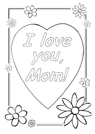 Coloring Pages For Kids For Mom 45 Mothers Day Coloring Pages Print