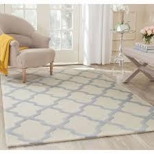 photo 3 of 7 safavieh cambridge ivory light blue 5 ft x 8 ft area rug