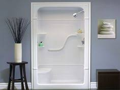 Modern Shower Stalls With Seats Madison 4 X One Piece Stall In Design Ideas