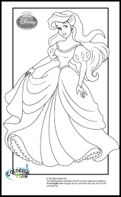 Disney Princess Ariel Coloring Pages Edl